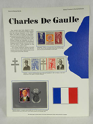 Postal Commemorative Society World of Stamps - Charles De Gaulle