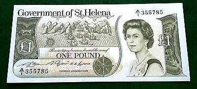 SAINT HELENA £1 ONE POUND BANKNOTE ND 1981 SERIES 'A1' P-9a GEM UNCIRCULATED