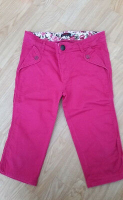 Pantacourt Pantalon Fille rose fushia Catimini 10 ans TBE