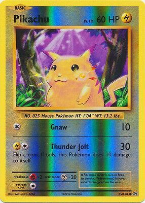 Pokemon Cards Pikachu Evolutions Reverse Holo Common 35/108