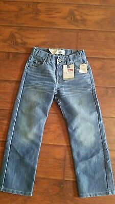 New boy's Levi's 514 straight 8 reg. adjustable waist.