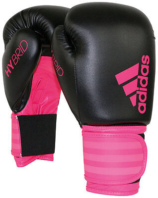 Adidas Hybrid Boxing Sports Mitts Fighter Punch Training Gloves Pink 6oz Or 10oz