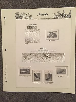 Australia 1982 Seven Seas Hingeless 8 Pages - No Stamps