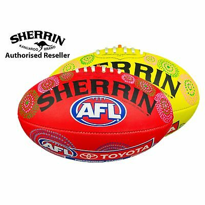 Sherrin Official AFL Synthetic Indigenous Football size 5