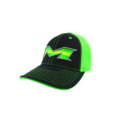 Miken Hat by Pacific 404M Black/Lime/Lime Stripe LG/XL (7 3/8-8), NEW