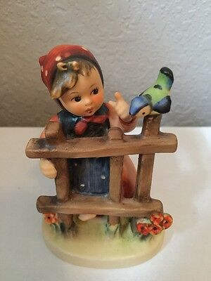 "Mint ""SIGNS OF SPRING"" Figurine, Goebel M.I. Hummel TMK-5 4"" Tall #203 2/0"