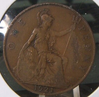 1921~~Great Britain~~Large Penny~~Very Nice