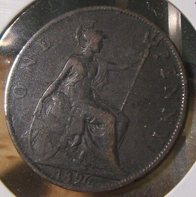 1896~~Great Britain~~Large Penny~~Very Nice