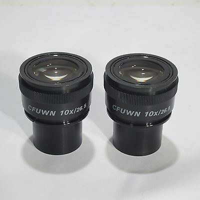 Nikon Cfuwn 10X/26.5 30Mm Focusable Microscope Eyepiece Pair