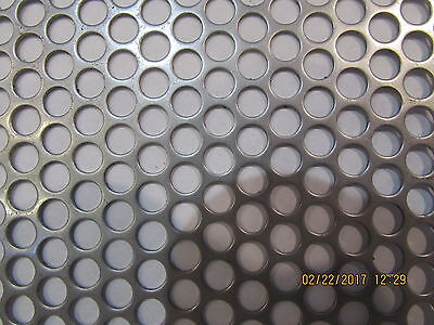 """1/4"""" Holes 16 Gauge 304 Stainless Steel Perforated Sheet-- 12"""" X 24"""""""