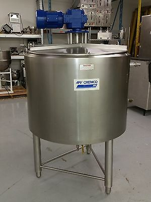 SEE VIDEO APV Jacketed Mixing Tank Kettle Sweep Agitation Chocolate Melter