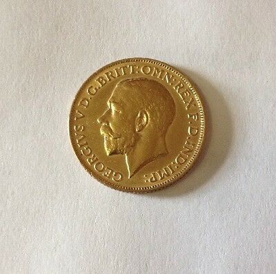 1911 King George V British Gold Sovereign, .2354 Ounces Gold