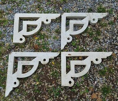 Vtg. 4 Wooden Architectural Salvage Corbels Reclaimed Porch House Trim Primitive