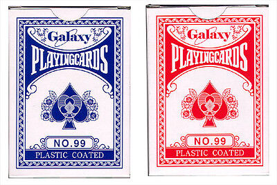 100 Packs of Plastic-Coated High Gloss - Poker Size Playing Cards (99) Wholesale
