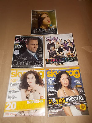rare SKY MAGAZINES Job Lot Collection 5 ISSUES 2009 2010 2011 MAG