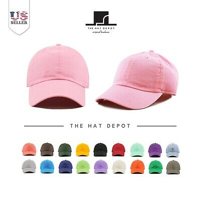 Kids Washed Cotton and Denim Low Profile Plain Children's Baseball Cap