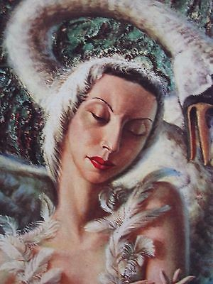 Original Vladimir Tretchikoff - DYING SWAN - 1950's print in perfect condition