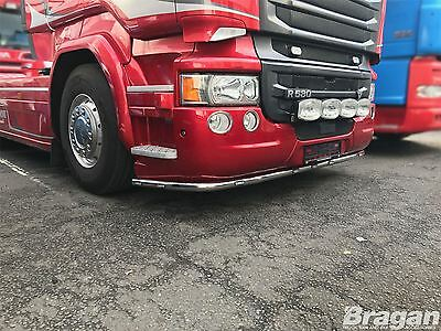 To Fit Scania P G R Series Pre 09 Steel Deep Low Light Under Bumper Bar + LEDs