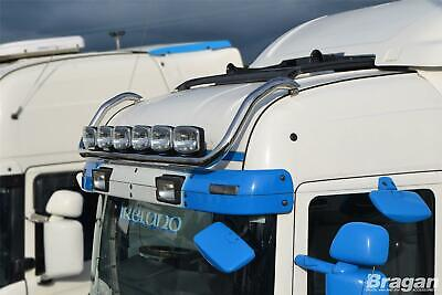 To Fit 09+ Scania P G R 6 Series Polished Stainless Highline Roof Light Bar
