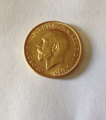 1928 King George V British Gold Sovereign, .2354 Ounces Gold