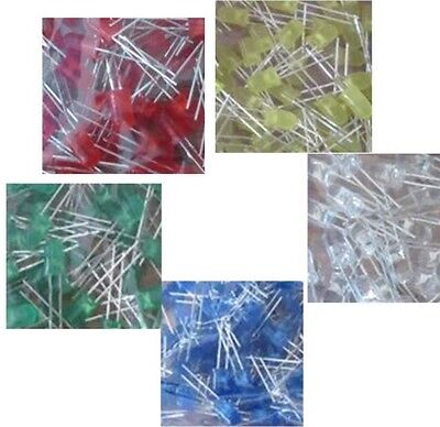 50pcs 5mm RED LED components Coloured diffused Diodes Electronics circuit build