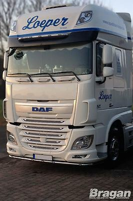To Fit DAF XF 106 Super Space Space Cab Stainless Steel Visor Bar Truck Lorry