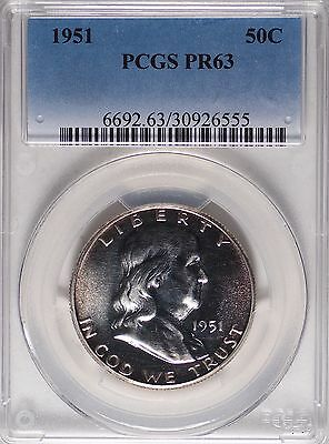 1951-P Franklin Half Dollar Proof 50C PCGS Graded PR63