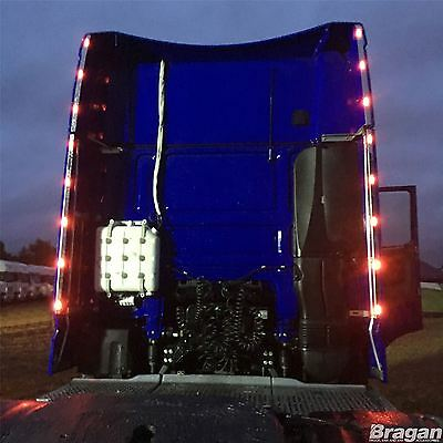 To Fit DAF XF 106 Super Space Cab Stainless Steel Perimeter Wind Kit Strips