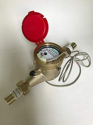 """DAE MJ-75R Lead Free Hot Water Meter, 3/4"""" NPT Couplings, Pulse Output, Gallon"""