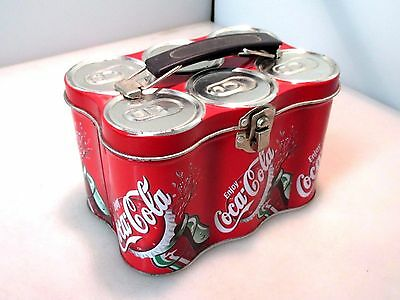 2000 Coca-Cola Brand Lunch Box Tin - Six Pack of Cans - Enjoy Coca-Cola