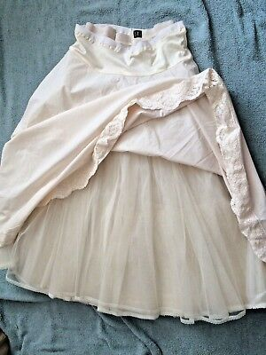 Set 2 Beautiful Vintage Handmade Bridal Petticoats Layered Tulle  Sz 6 8 10 26W