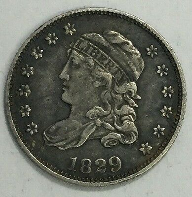 1829 H10C Capped Bust Half Dime-XF+