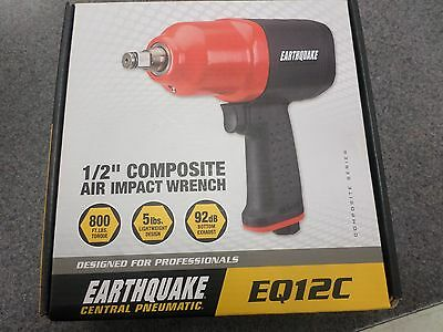 """Earthquake Central Pneumatic  EQ12C 1/2"""" composite air impact wrench, NEW"""