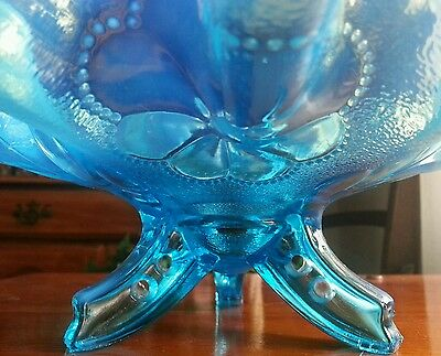 Stunning Blue Glass Rocket Legs Dugan Daisy and Plume Exceptional Colors