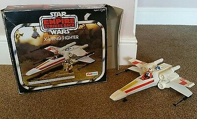 vintage empire strikes back x-wing fighter with action figure