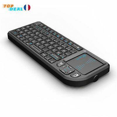 Mini Clavier USB sans fil Rechargeable 2,4GHz Touchpad PC XBox TV Informatique