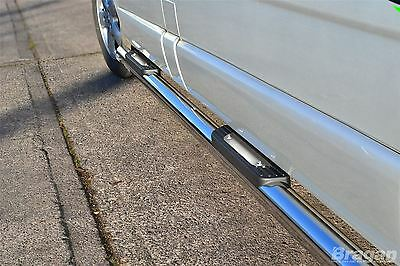 To Fit 02 - 14 Opel Vauxhall Vivaro LWB Stainless Steel Side Bars + Step Pads