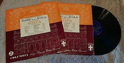 Maria Callas  Tosca  Teatro Alla Scala Columbia Set Of 2 Records 33Cx 1094 1095
