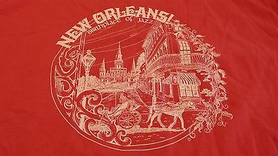 Vtg. New Orleans Birthplace Of Jazz Xl Souvenir  T-Shirt Made In Usa
