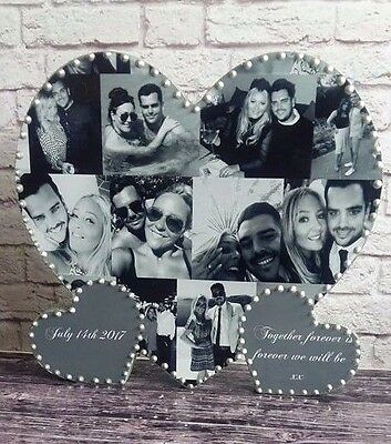 Personalised Solid Wooden Photo Heart, Birthday,Wedding,Anniversary Gift present