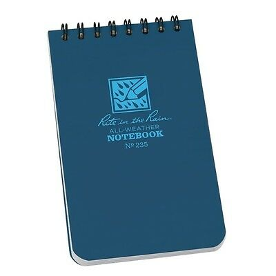 """Rite in the Rain 235 All-Weather Universal Spiral Notebook, Blue, 3"""" x 5"""""""
