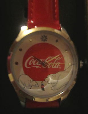 Brand New 2016 Avon Coca Cola Polar Bear Watch Enjoy Coke Christmas Bears 9""