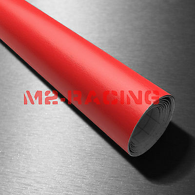"""4""""x8"""" SAMPLE Red Leather Grain Textured Cabinet Vinyl Car Wrap Sticker Decal"""
