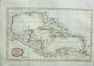 A scarce 1806 map 'WEST INDIES from the Best Authorites' by James Barlow