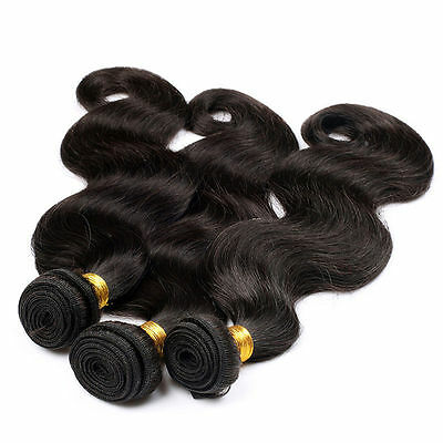 UK seller 100% Virgin Brazilian Human Hair Body Wave Hair Extension Weave 100g