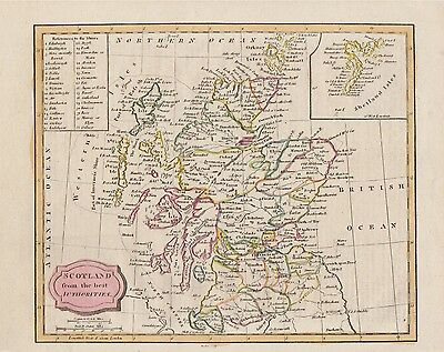 """210 year old map """"Scotland from the best Authorities"""" by James Barlow c1806"""