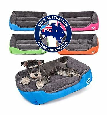 Pet Dog Cat Soft Warm Bed Mattress Washable Large Deluxe Fleece Mat S M L XL XXL