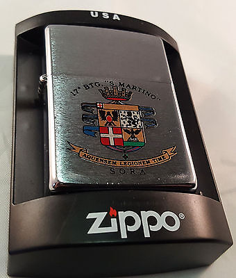 Accendino, Lighter ZIPPO originale, militaria 17 BATTAGLIONE SAN MARTINO - SORA