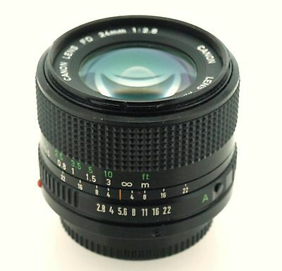 Canon FD 24mm f/2.8 Prime Wideangle Lens