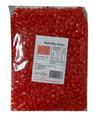 Sweet Treats Mini Jelly Beans - Red with a Strawberry Flavour (1kg Bag)